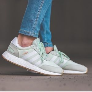 Adidas I-5923 Green Three Stripe Sneakers NWT